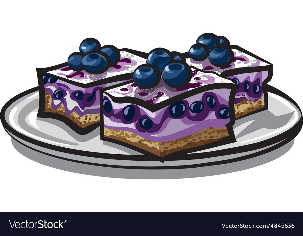 Blueberry cake vector image