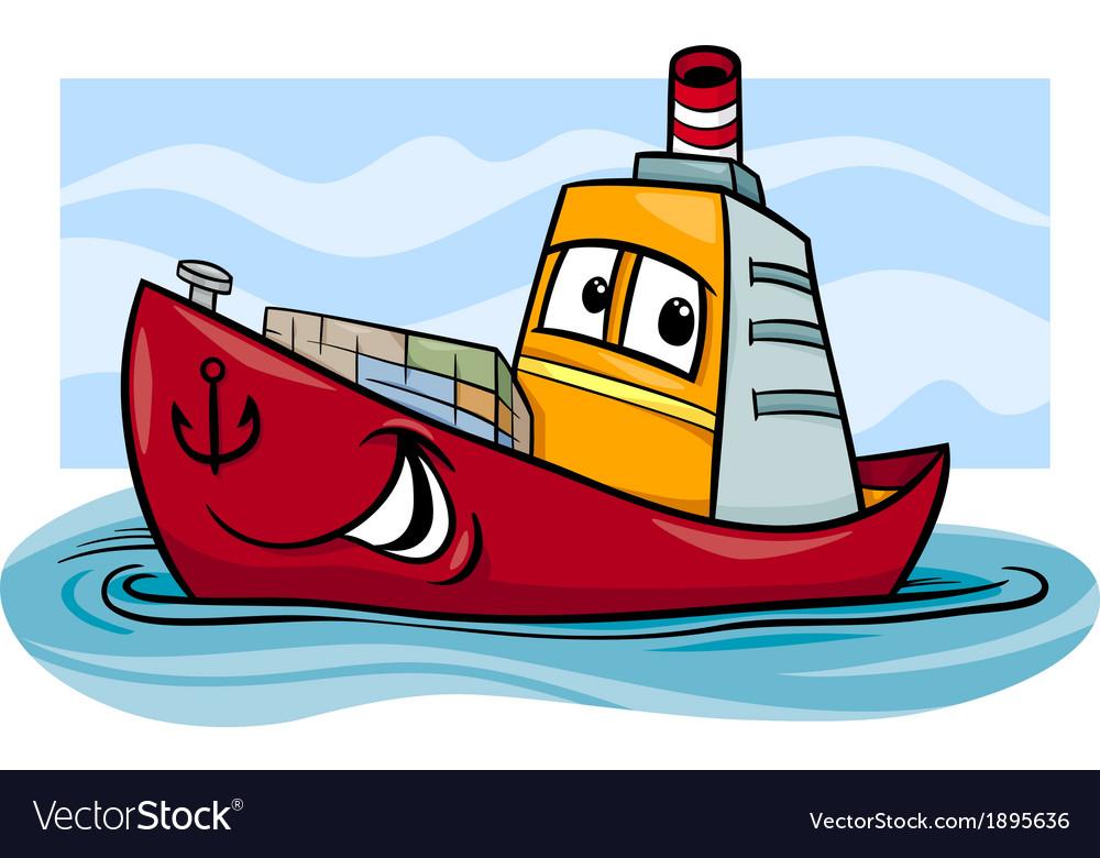 Container ship cartoon