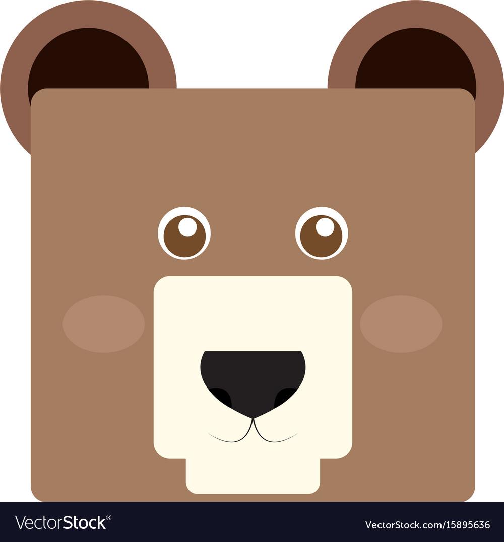 Isolated bear face