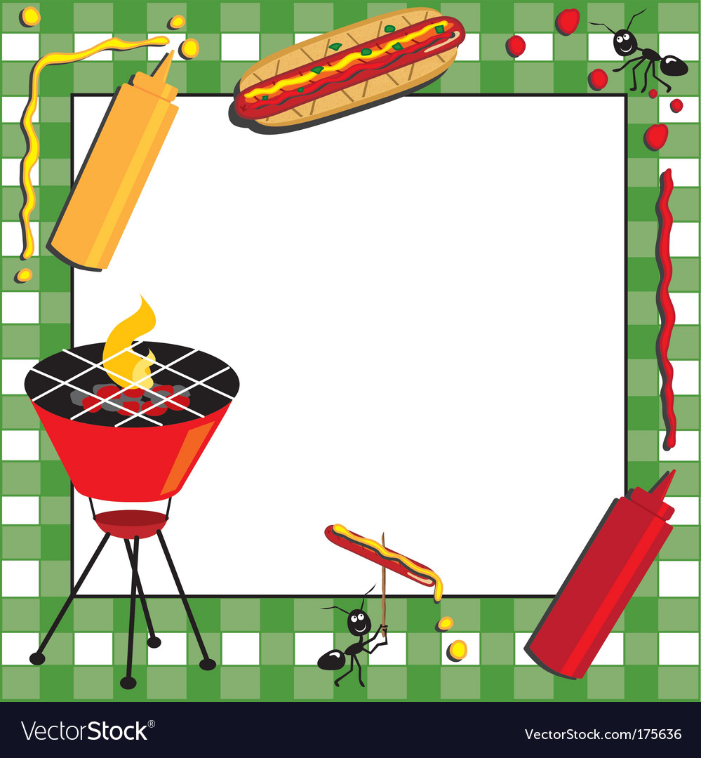 Picnic and bbq invitation royalty free vector image picnic and bbq invitation vector image stopboris Images