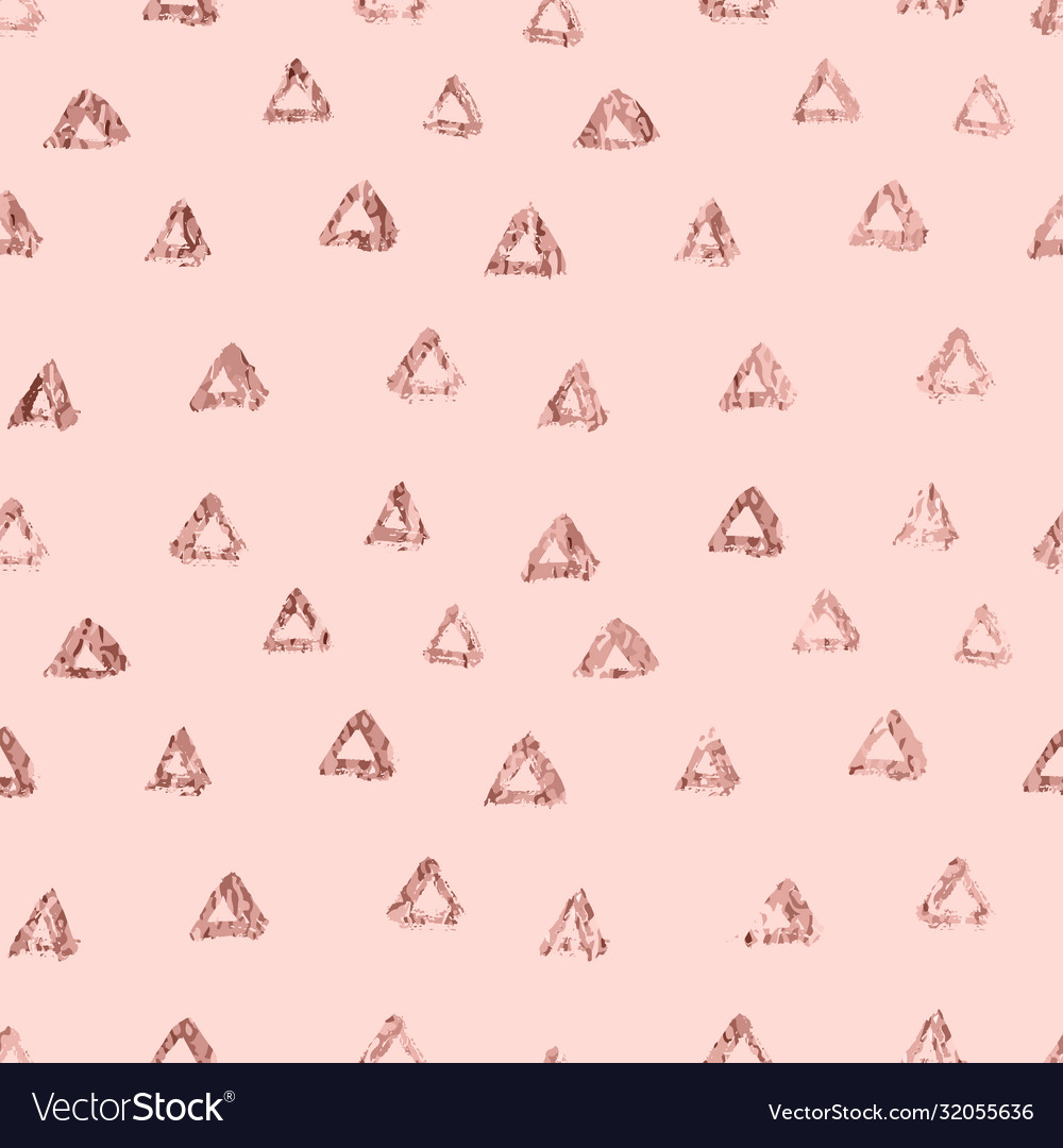 Rose gold triangle elegant abstract repeatable