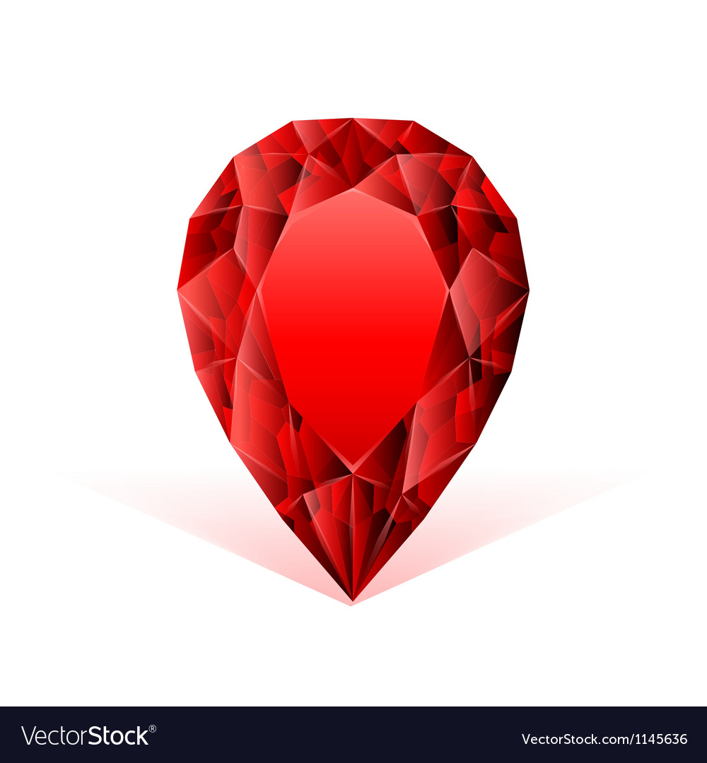 Ruby face against white background vector image