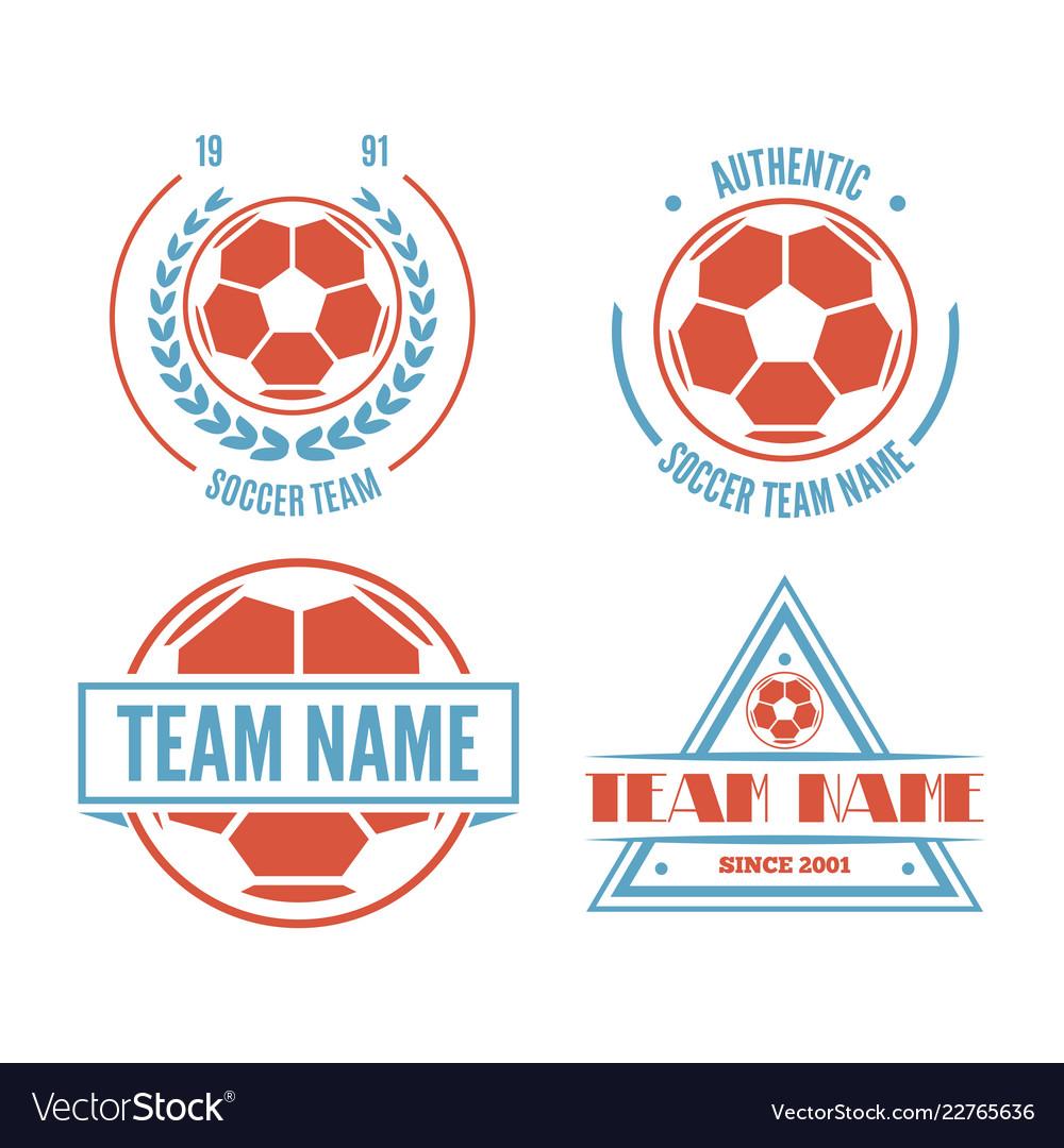 Set of football or soccer club logo set