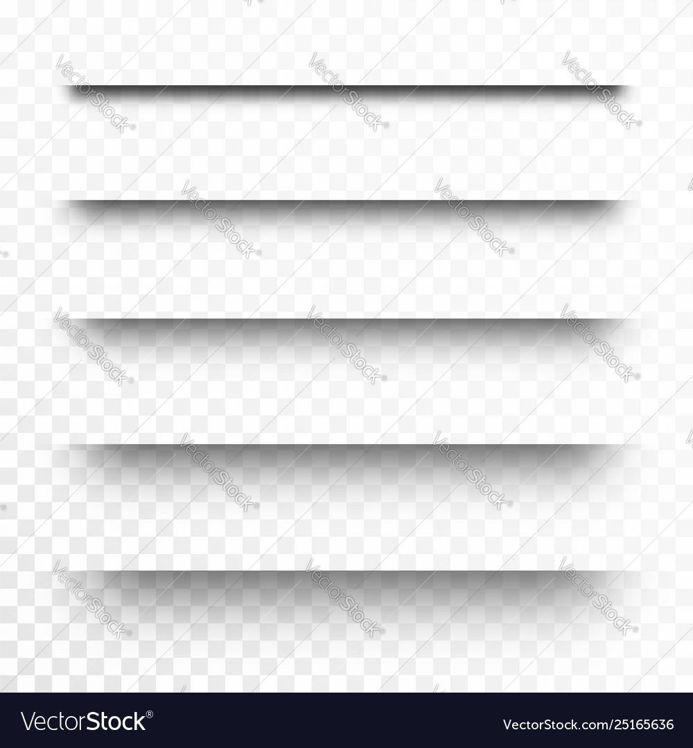 Set transparent shadows page dividers