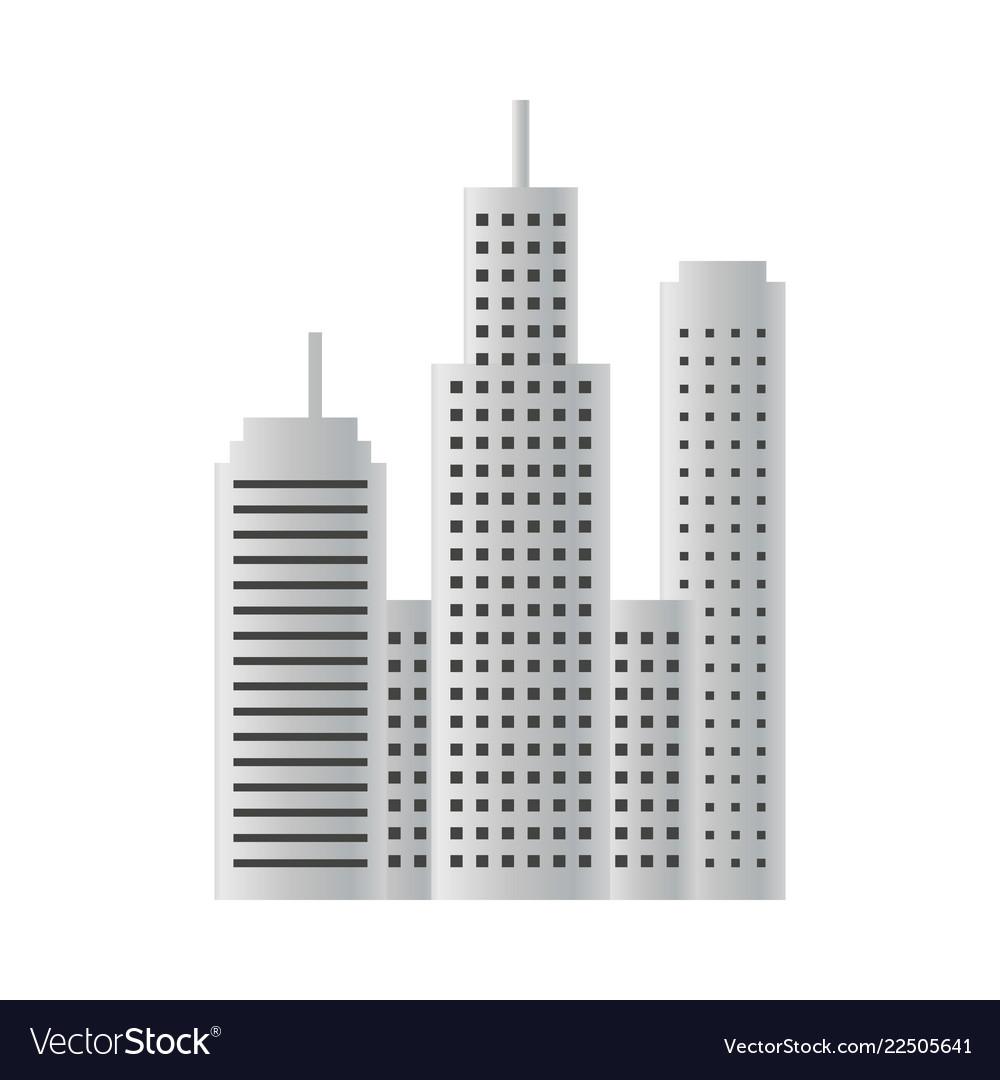 Building skyscraper design template isolated