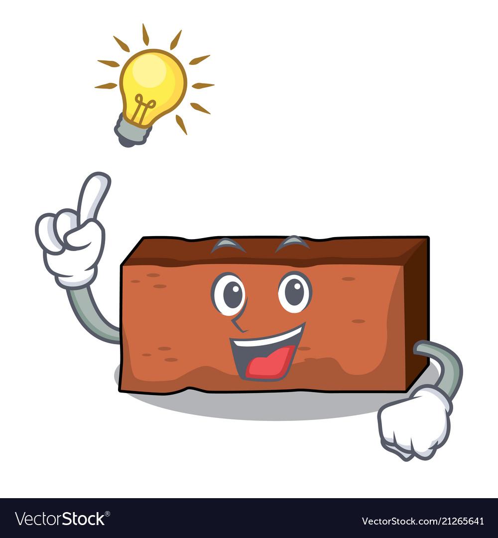 Have an idea brick mascot cartoon style