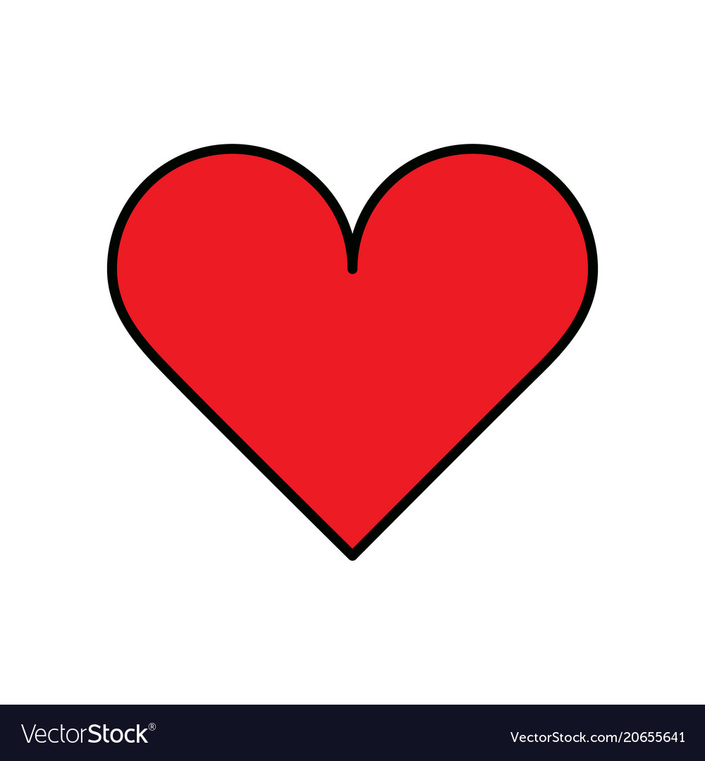 heart icon royalty free vector image vectorstock rh vectorstock com instagram heart icon vector heart icon vector free