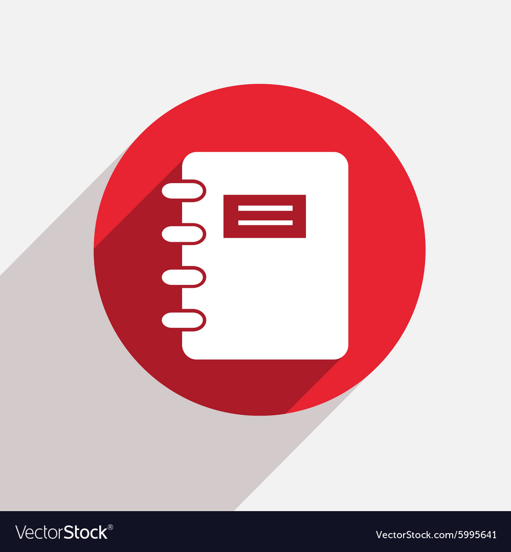 Modern document red circle icon