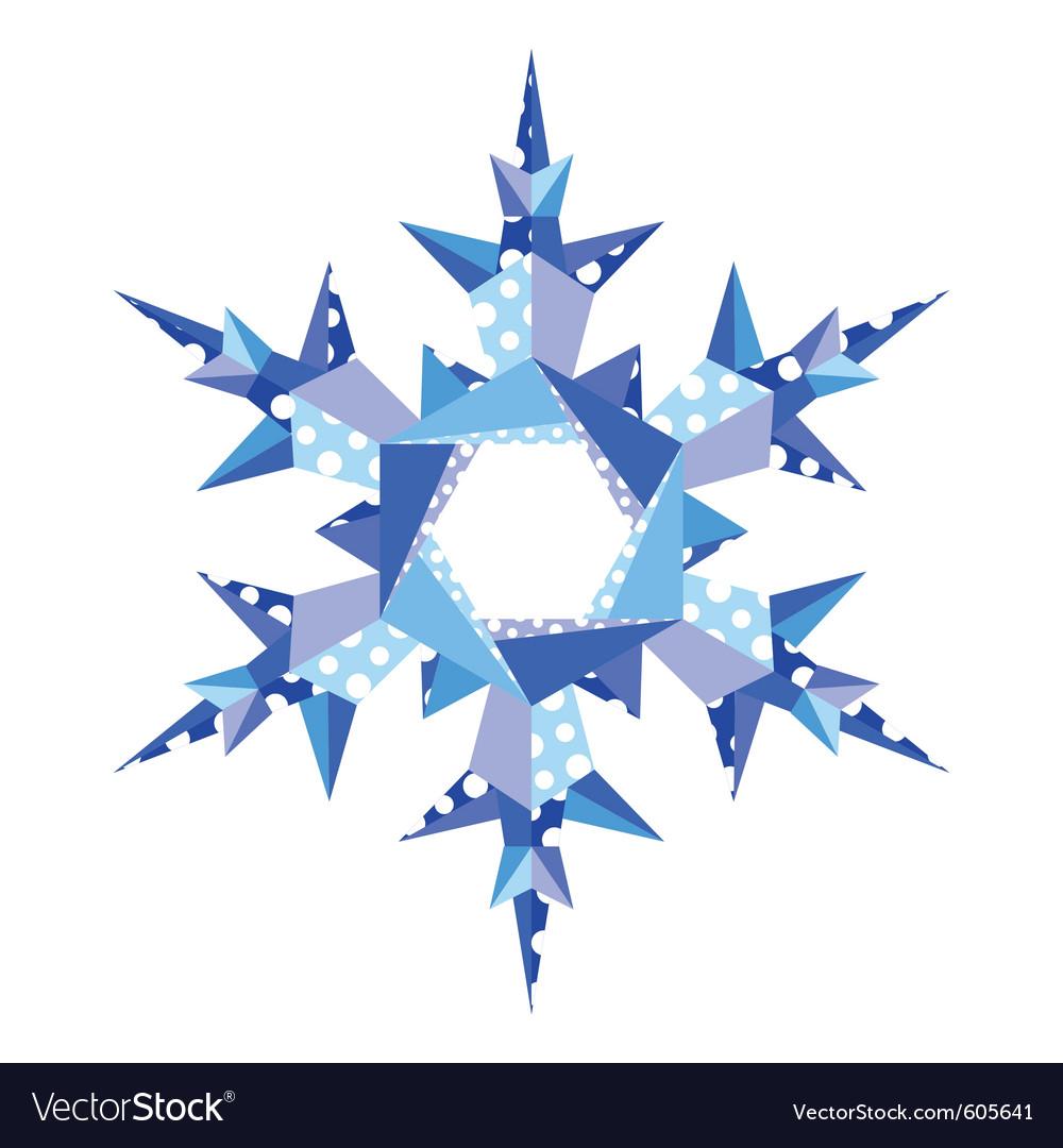 Origami snowflake in vector image