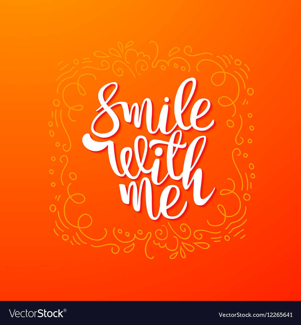 Smile with me quote banner