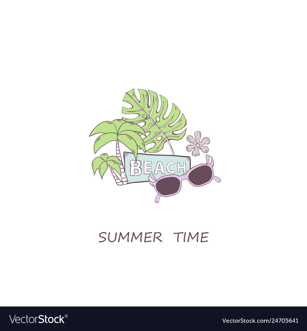 Summer time concept with sunglassesgreen