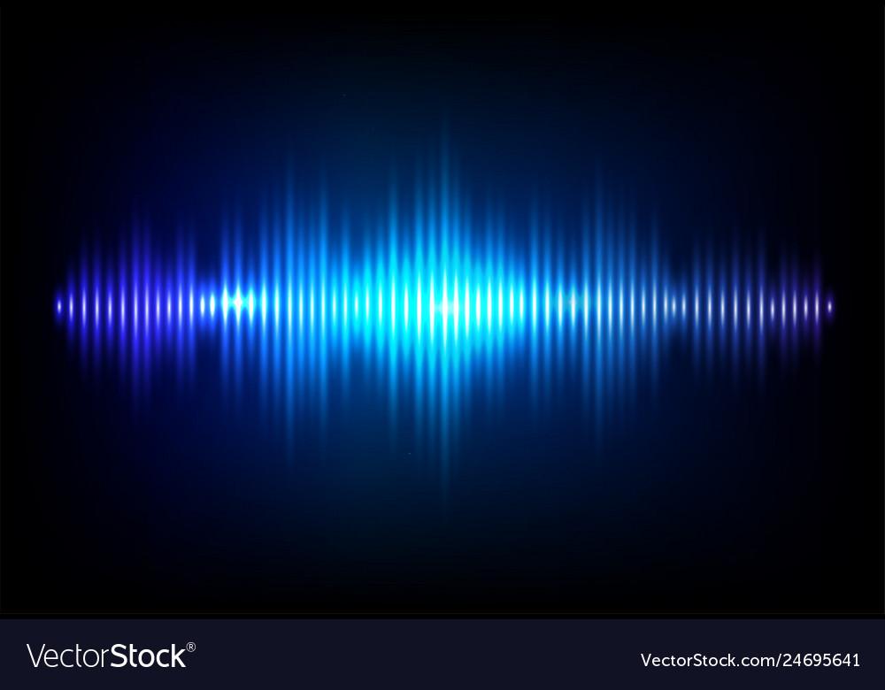 Wave sound neon background music flow