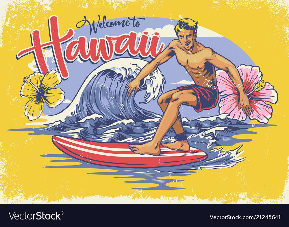 Welcome hawaiian surfing