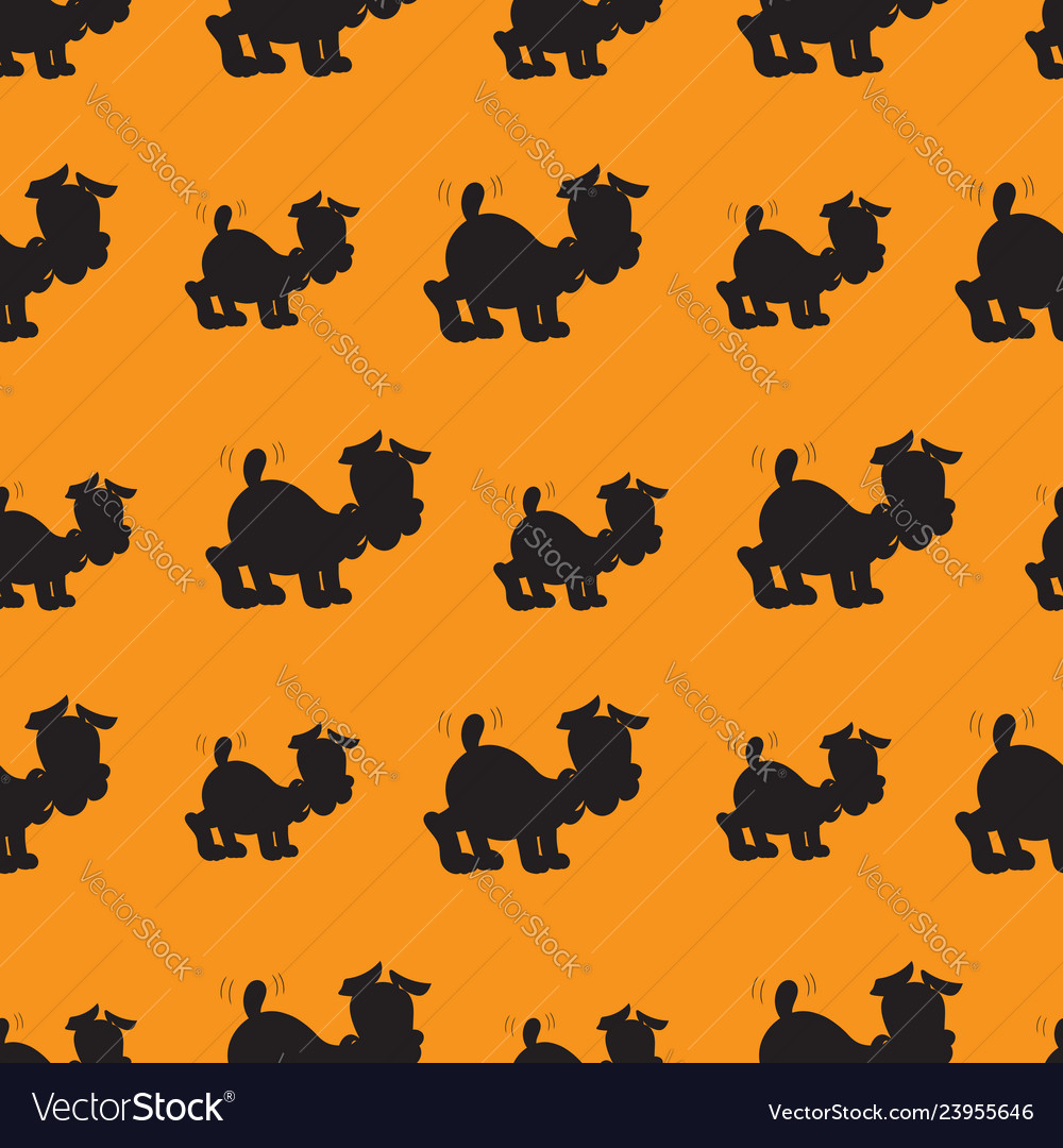 A seamless pattern of cute puppy