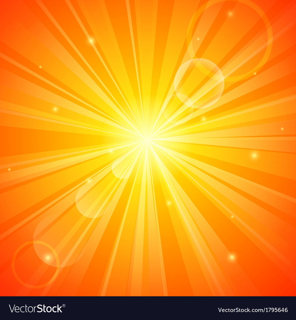 Abstract orange sunny background vector image