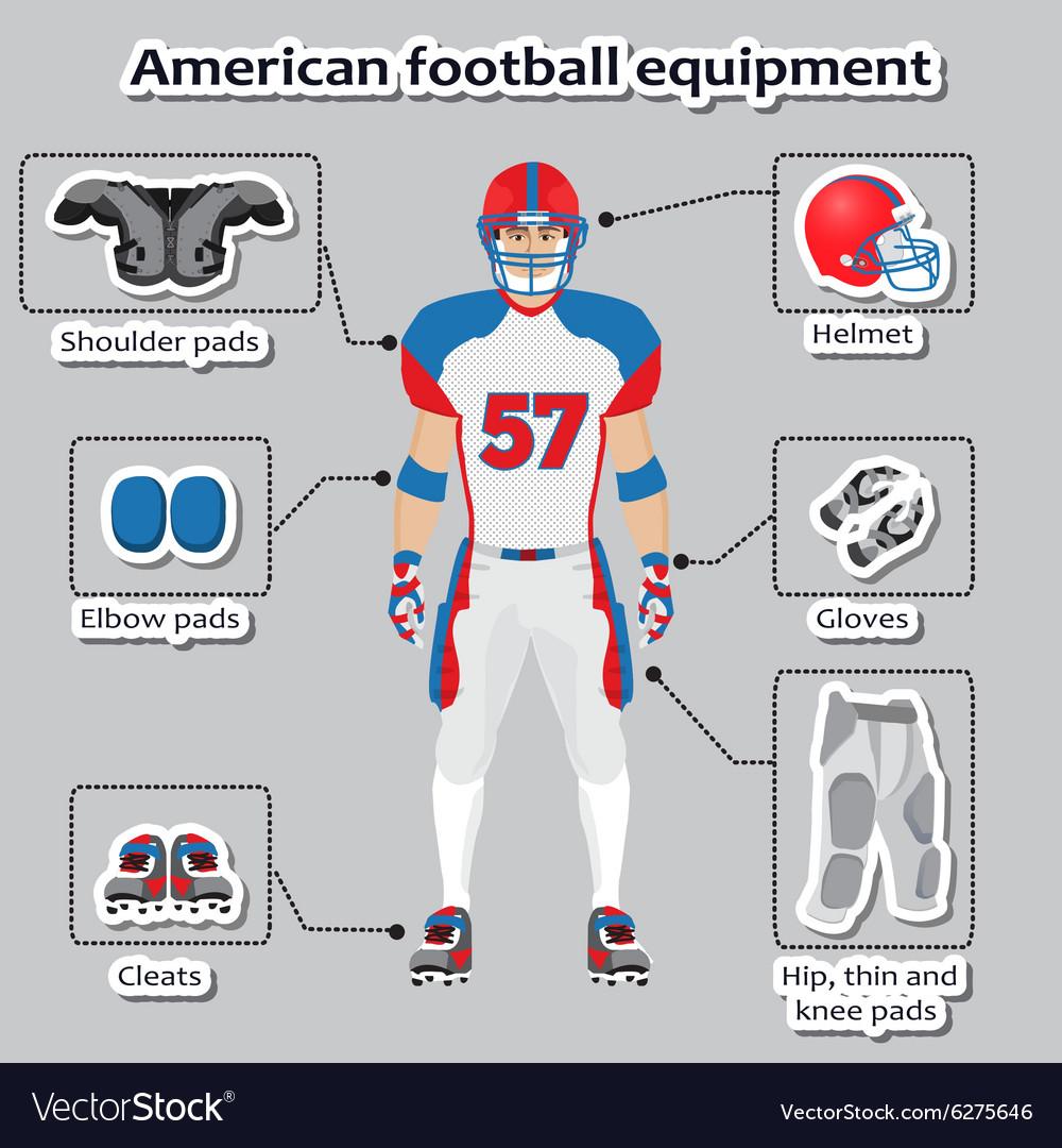 American football player equipment