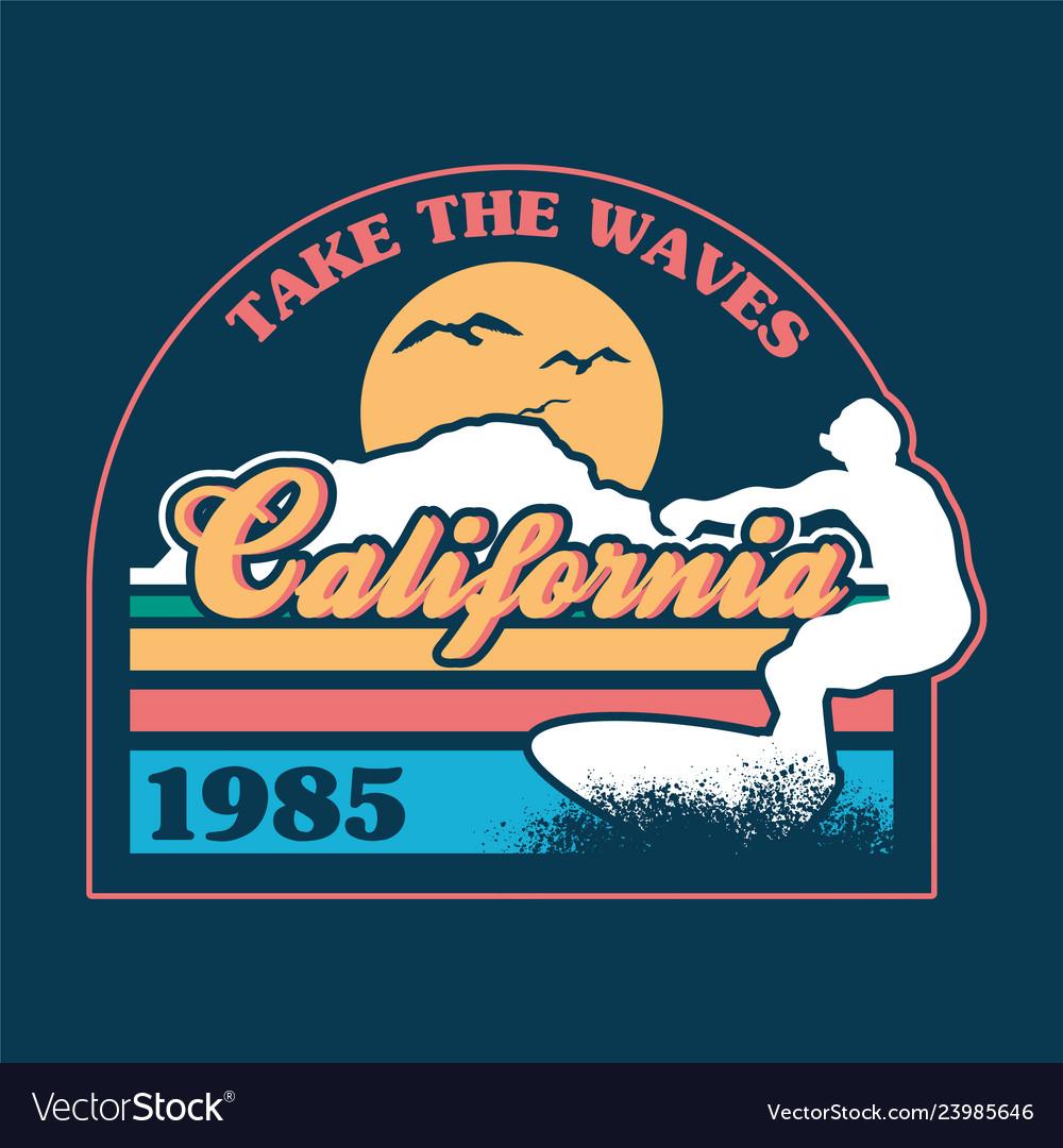 California surfing print