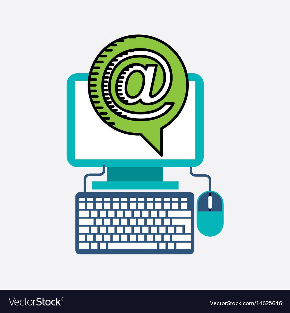 Desktop computer technology icon