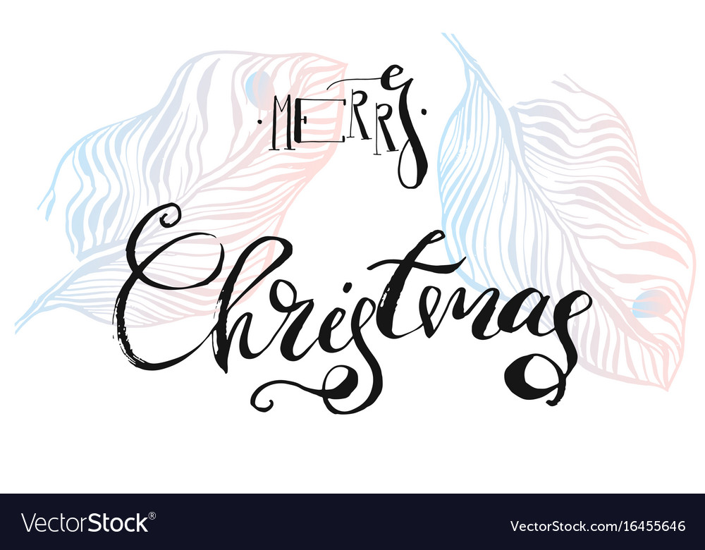 Hand drawn abstract textured graphic merry