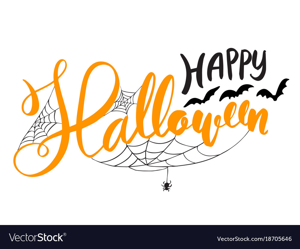 Happy Halloween Lettering Royalty Free Vector Image