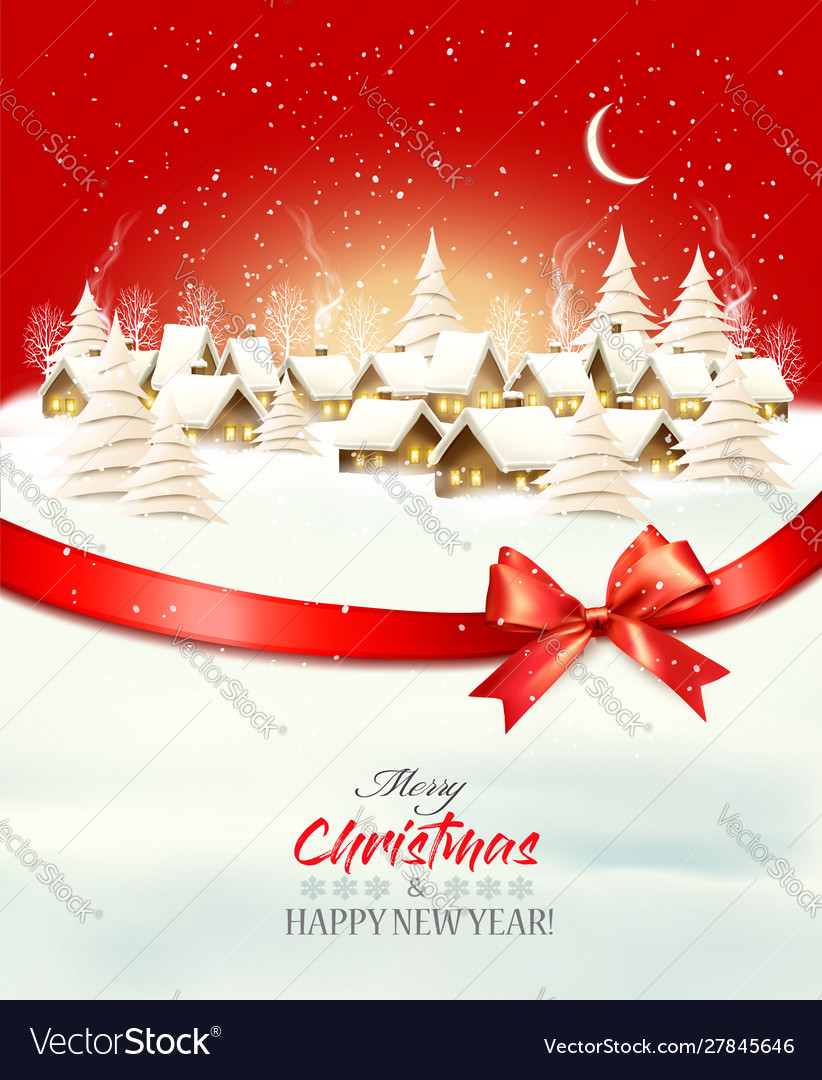 Holiday christmas winter background with a
