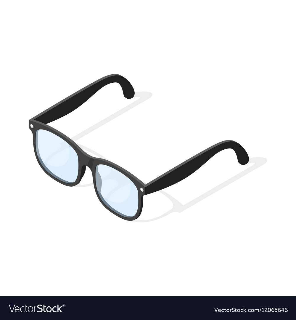 Isometric 3d Of Hipster Glasses Royalty Free Vector Image