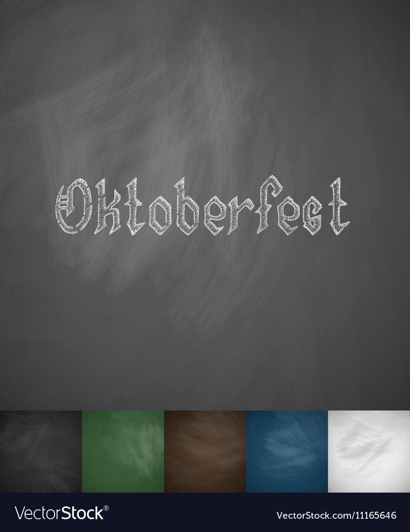 Oktoberfest icon vector image