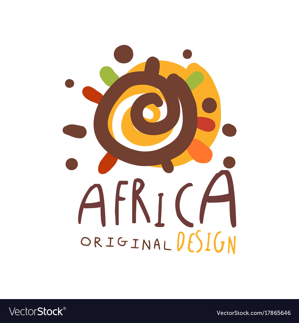 original african logo design template royalty free vector