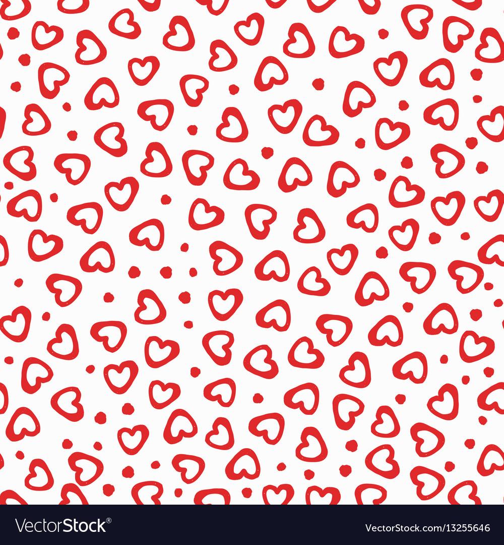 Seamless pattern hearts dots