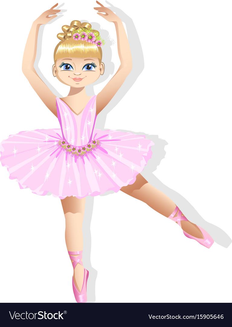024c7f20f Sweet little ballerina in a shiny dress Royalty Free Vector