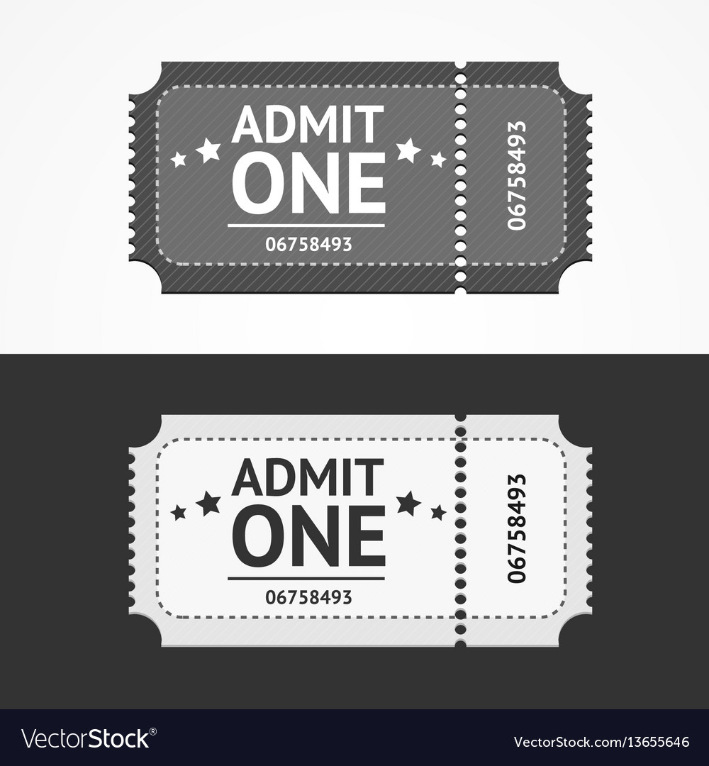 Ticket icon blank admit set