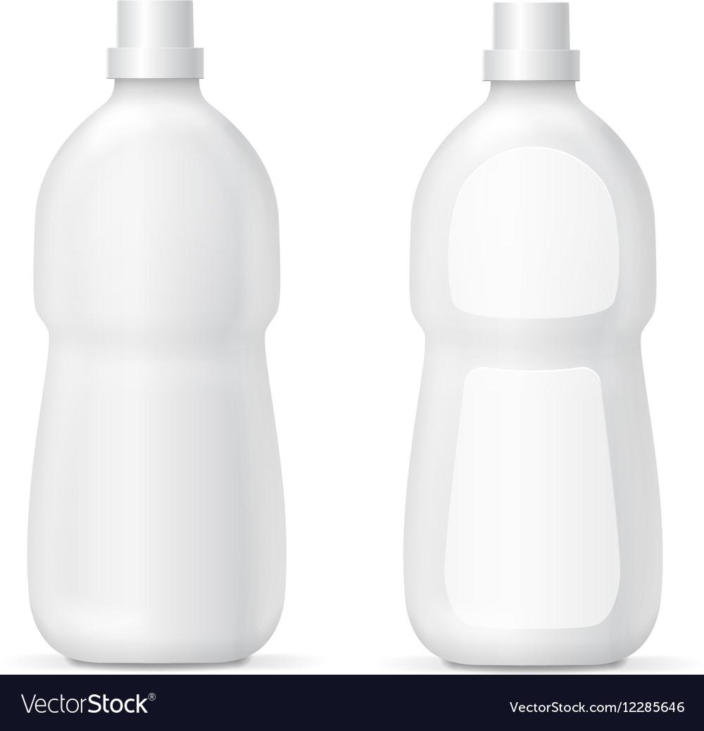 White plastic bottle for liquid cleaning agent