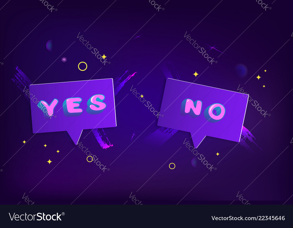 Yes and no badges