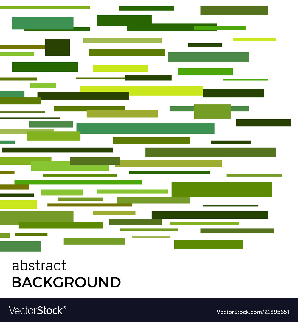 Abstract background of green rectangles