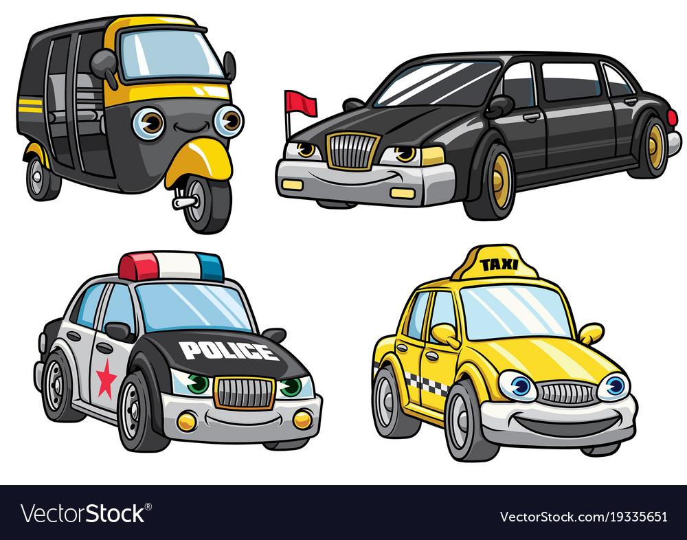 Cartoon of cars set