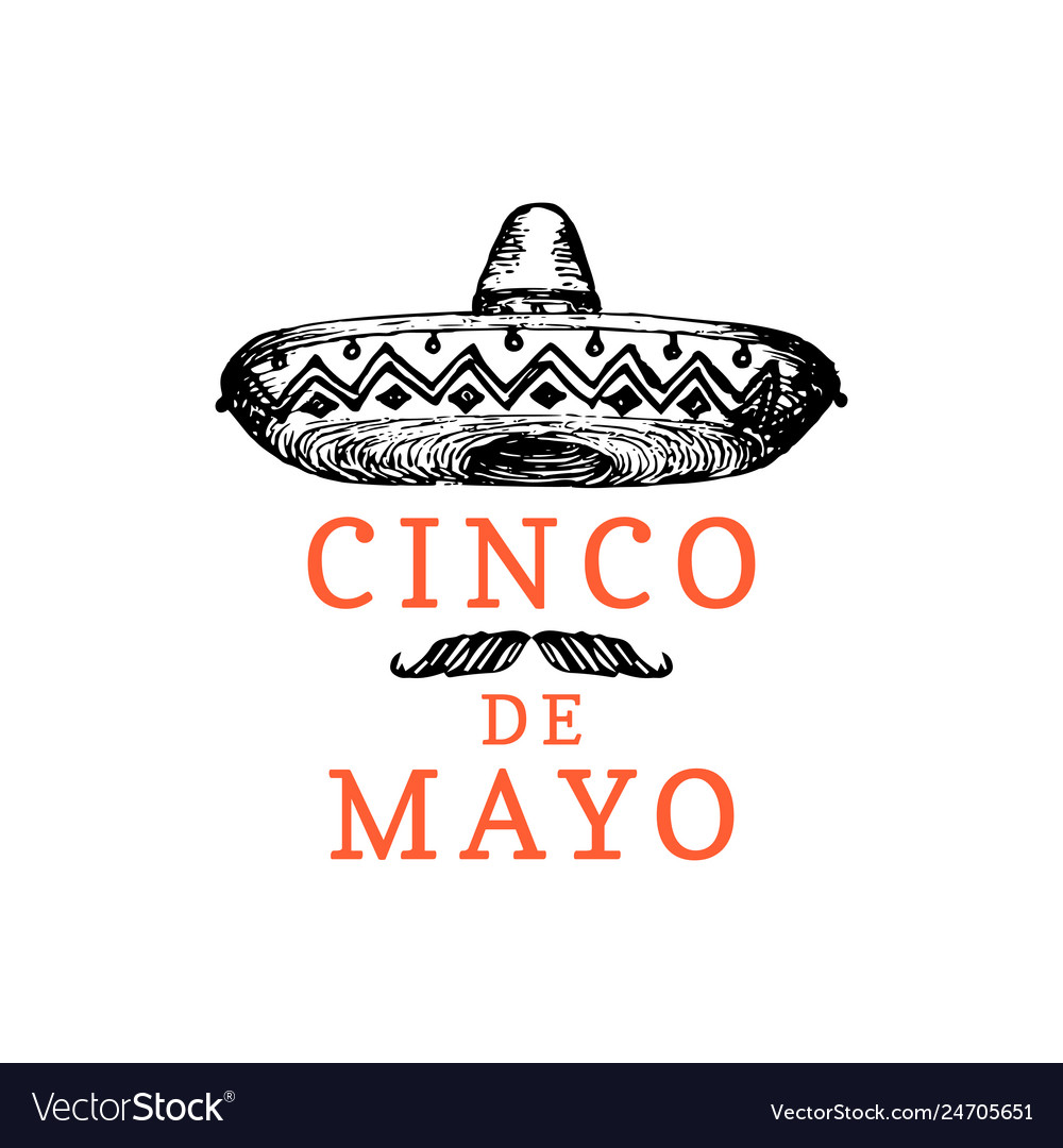 Cinco de mayo hand lettering translation from