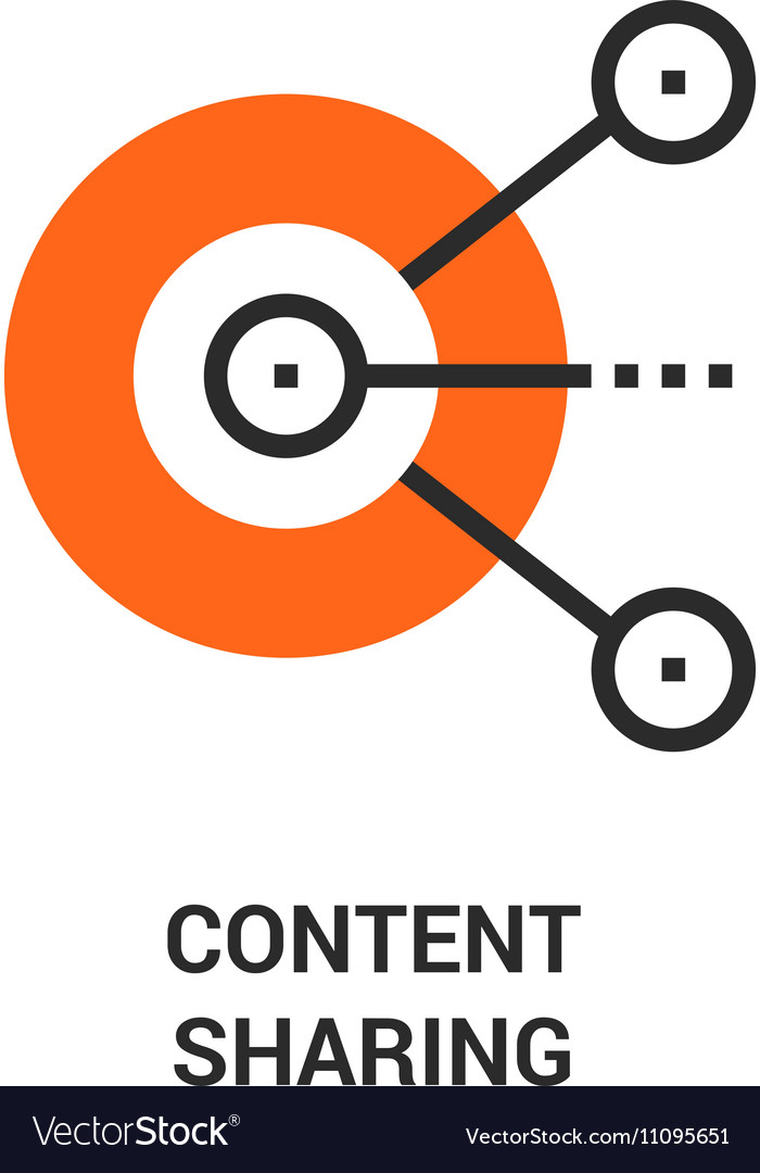 Content sharing icon