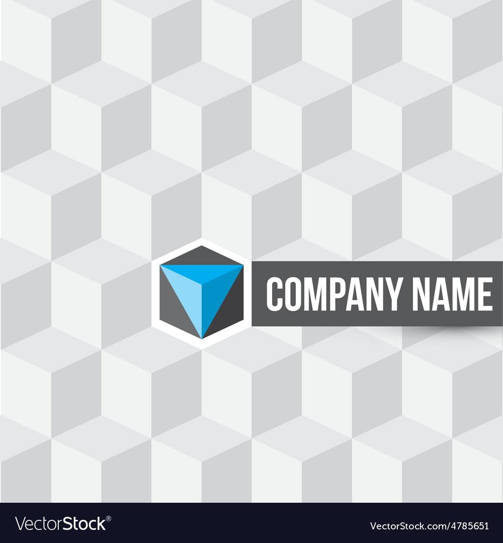 Cube company logo on cubes seamless pattern