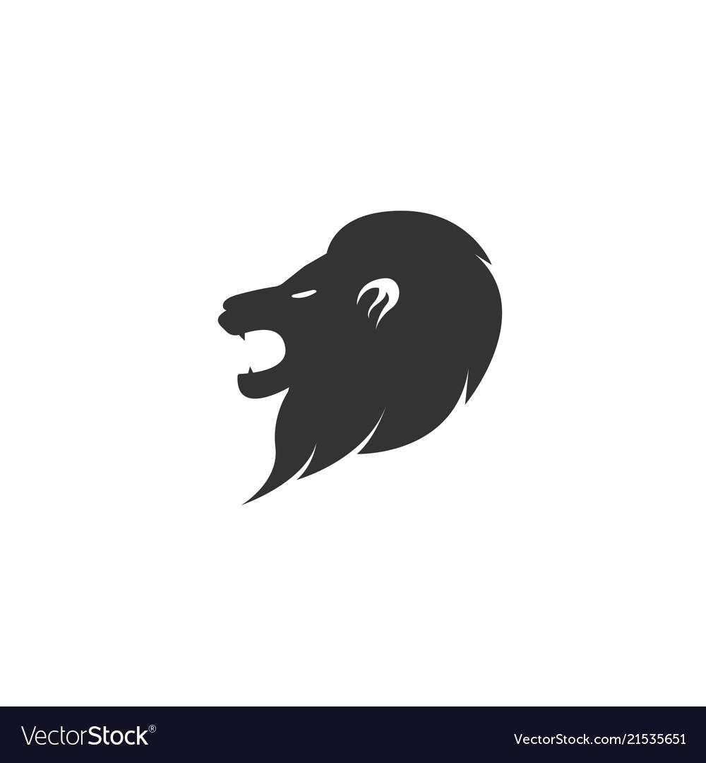 Head lion logo design