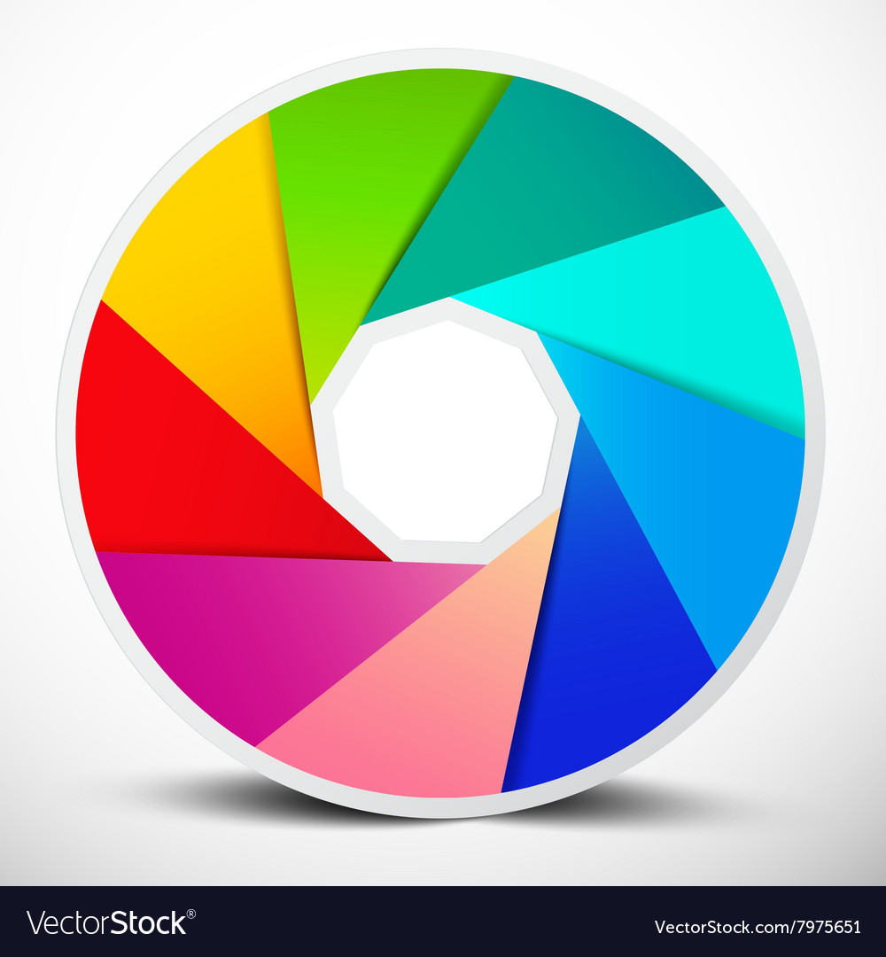 Material Design Infinity Circle Colorful Symbol