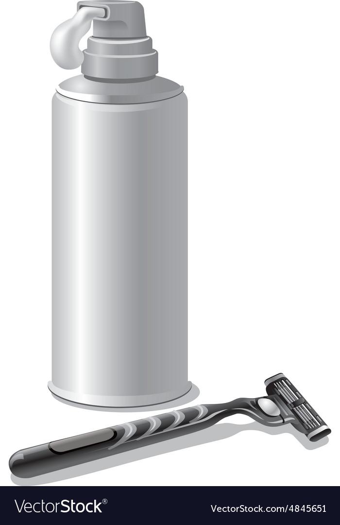 Shaving cream vector image