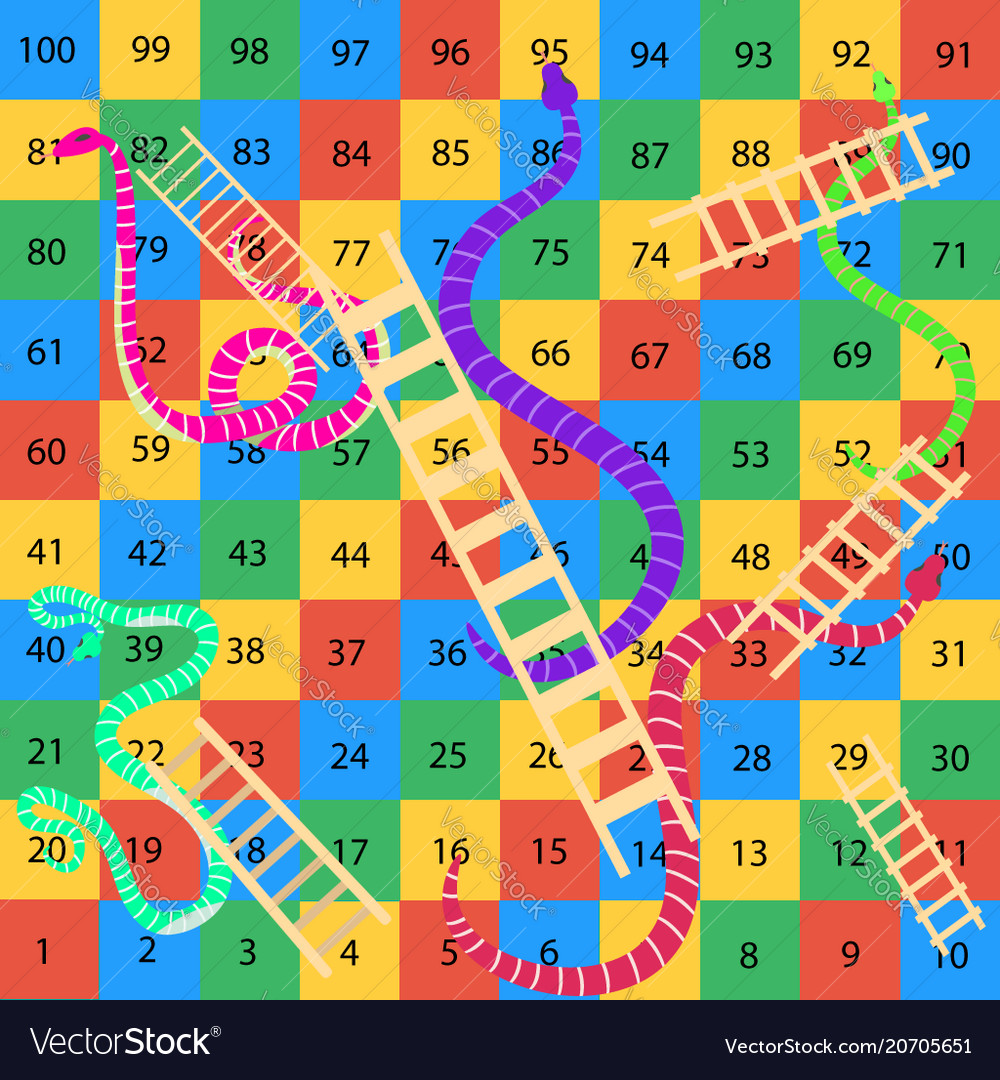 Snakes And Ladders Game Royalty Free Vector Image
