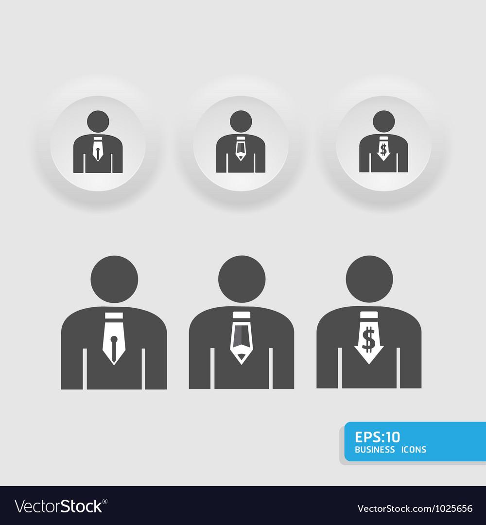 Businessmanbusiness man icon set vector image