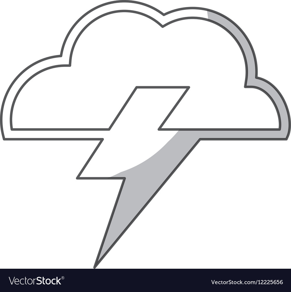 Cloud and bolt icon