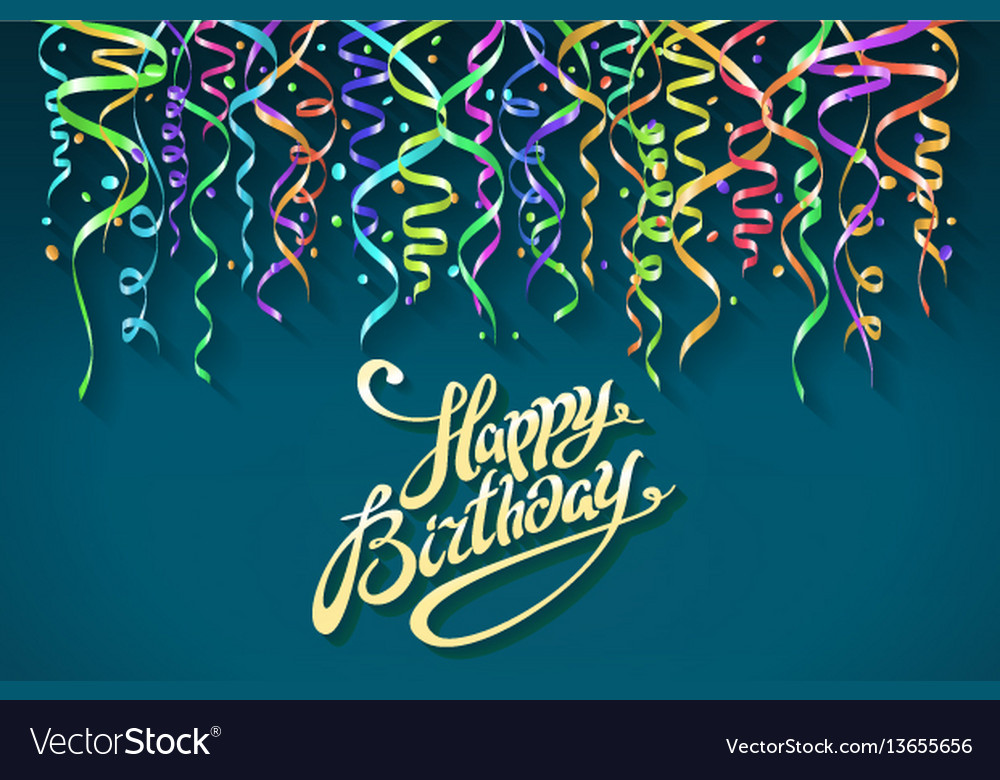 Party background with horn birthday background