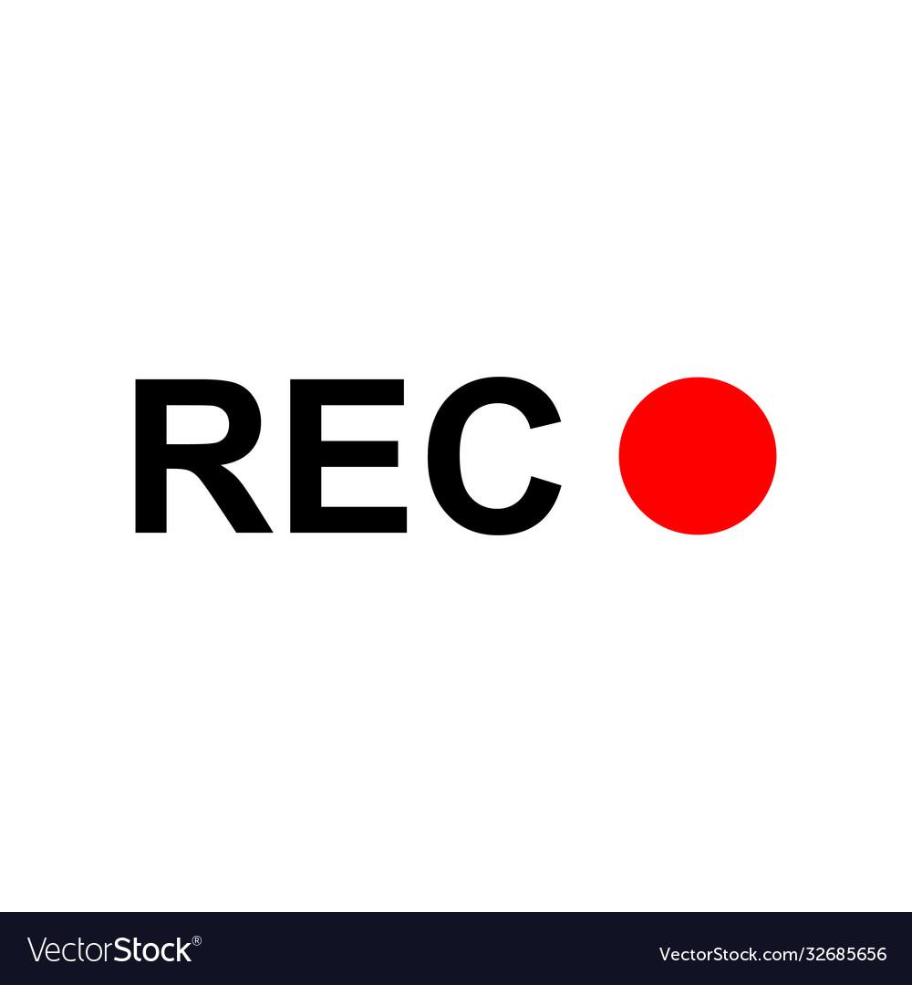 Recording icon isolated on white background