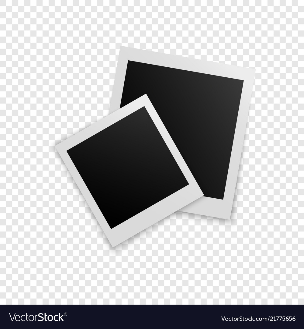Retro photo frames with shadows Royalty Free Vector Image