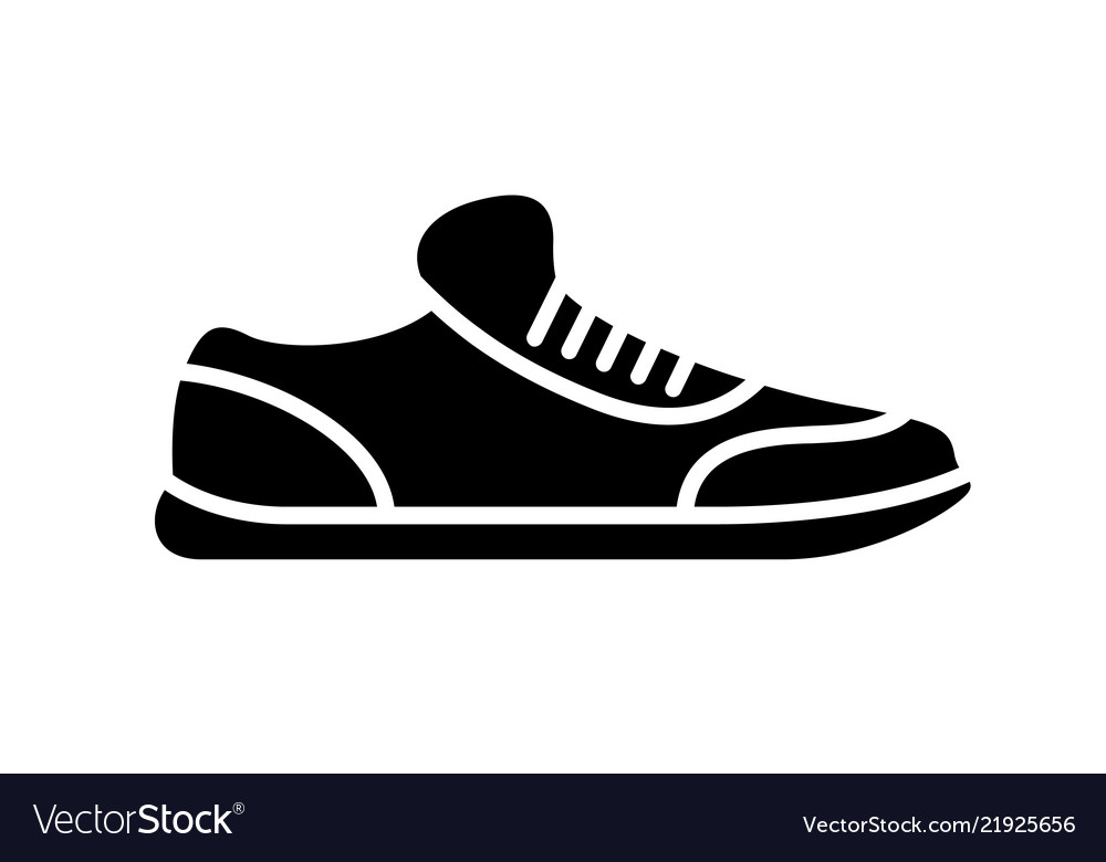 Running shoes icon fitness simple style sneaker