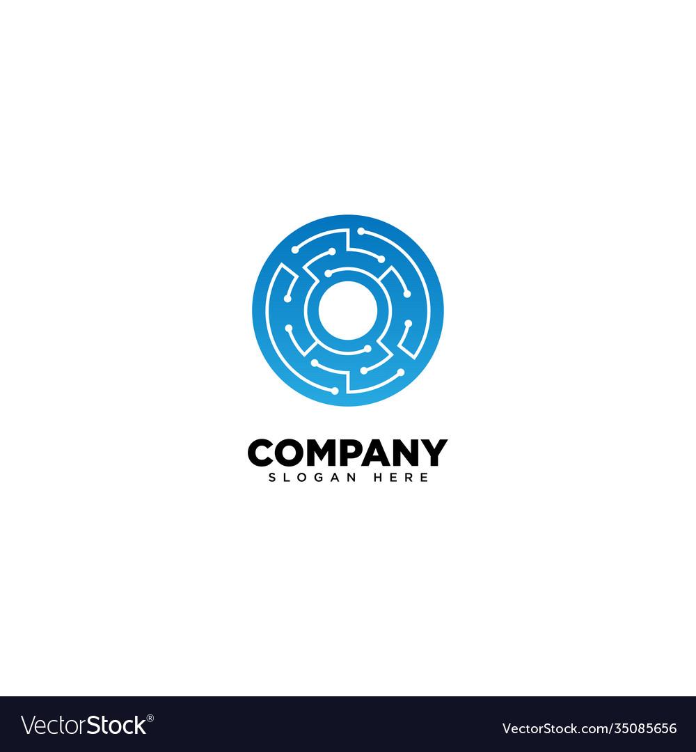 Technology letter o - logo