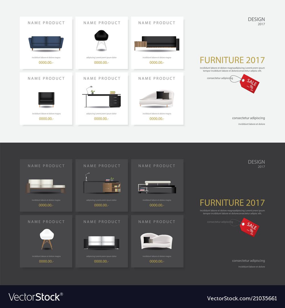 furniture sale banner. 2 Banner Furniture Sale Design Template Vector Image